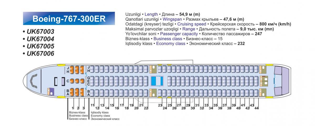 Боинг 767 внутри