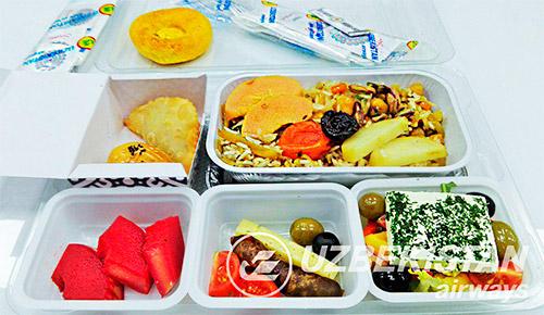 Питание на борту Узбекских авиалиний